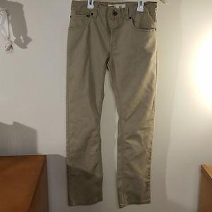 Levi's 511 slim, boys 16 reg, khaki jeans